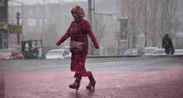 Nisan ayında kar sürprizi