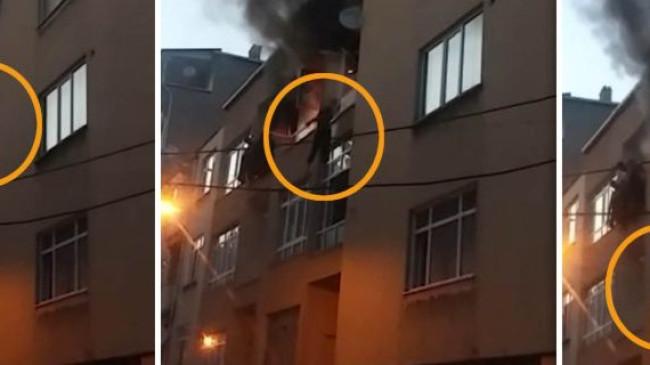 Yangında mahsur kalan iki kadın, üçüncü kattan aşağı atladı