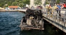 İstanbul Boğazı'nda yat yangını