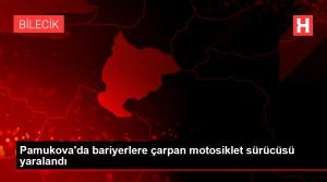 Pamukova'da bariyerlere çarpan motosiklet sürücüsü yaralandı