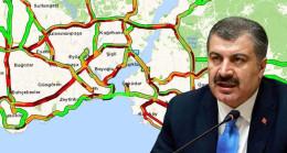 Sağlık Bakanı Fahrettin Koca uyarsa da vatandaş dışarı akın etti, İstanbul'da trafik yoğunluğu %76'yı buldu