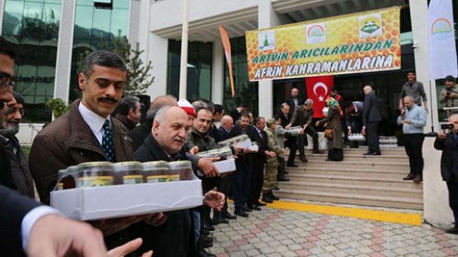 Artvin'den Afrin'e ballı destek