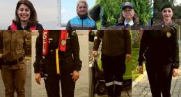Türkiye'nin dört bir yanından üniformalı kadınların görev aşkı